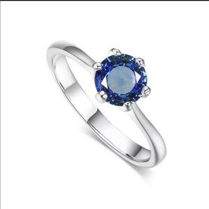 Jewelry - Dainty white gold cz cubic zirconia solitaire ring